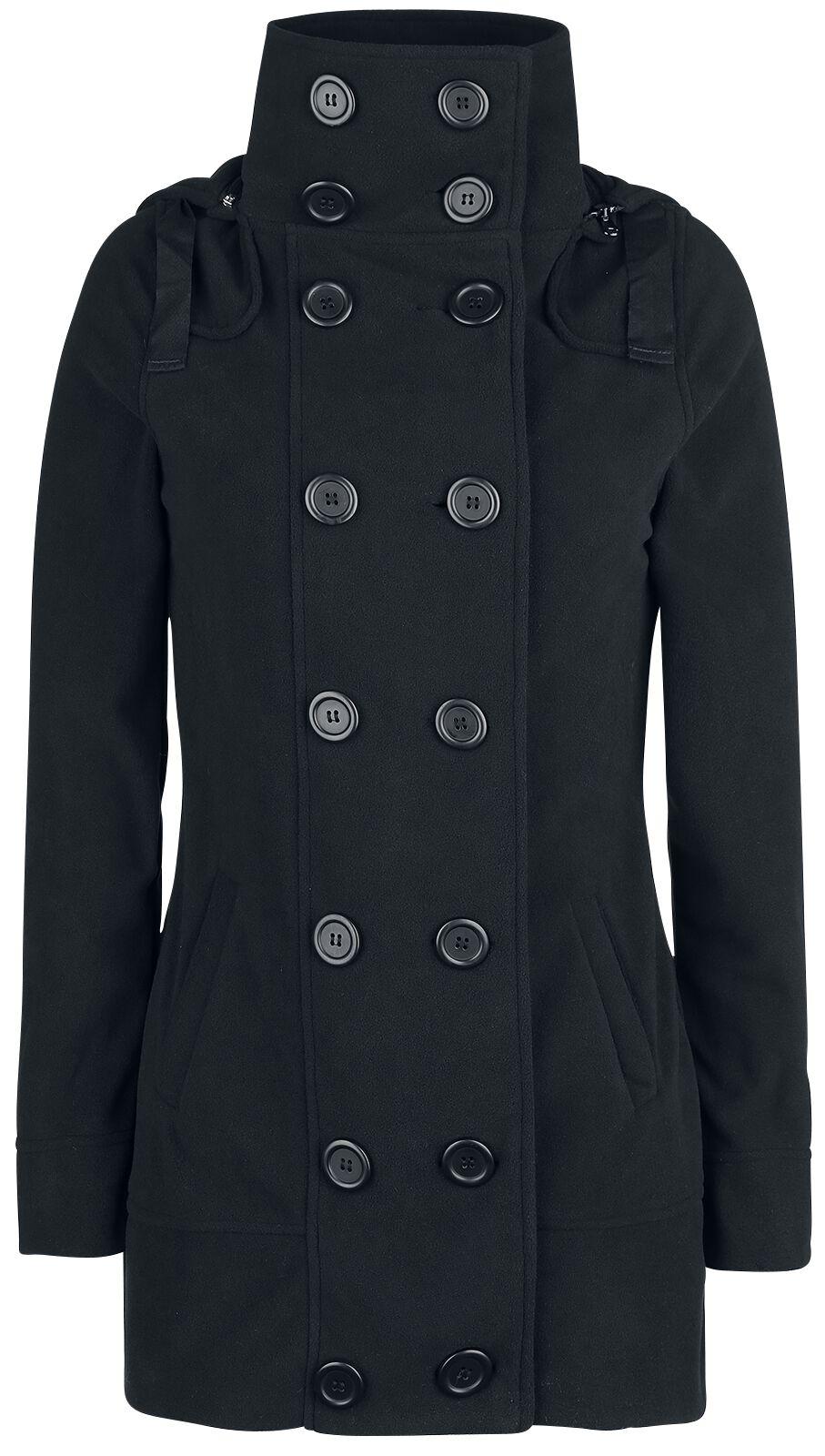 Brandit Madisson Fleece Mantel Płaszcz damski czarny