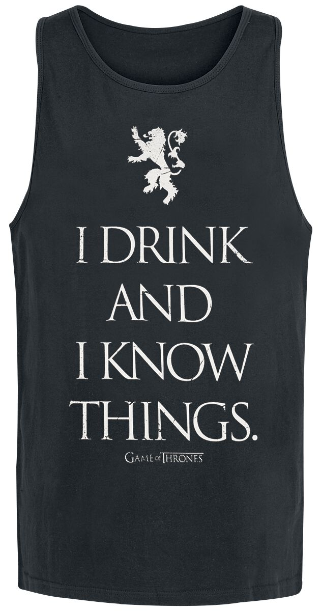 Image of   Game Of Thrones I Drink And I Know Things Tanktop sort