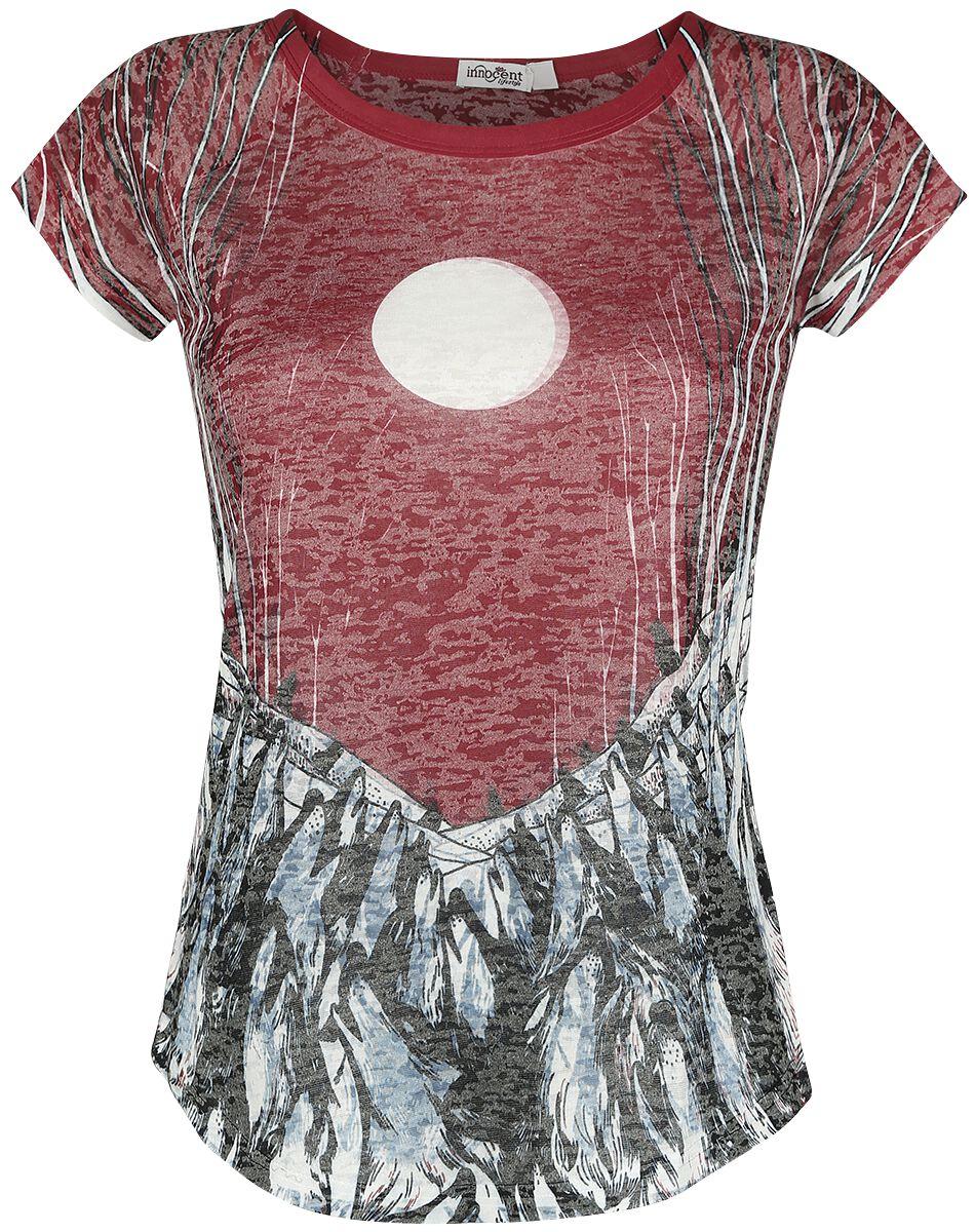 Image of   Innocent Red Moon T Girlie trøje multifarvet