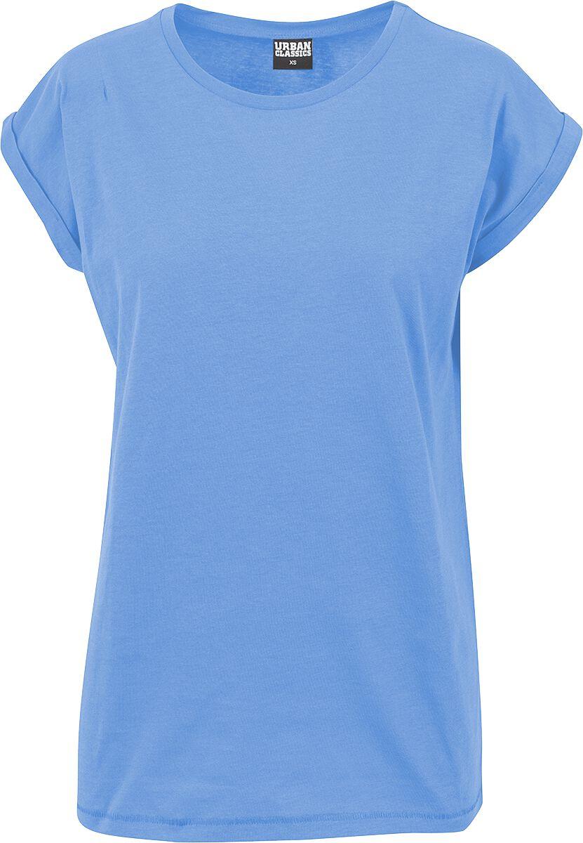 Urban Classics Ladies Extended Shoulder Tee Koszulka damska niebieski