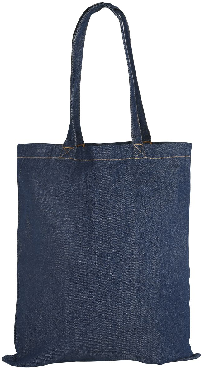 Image of   Jeans Tasche Langer Henkel Stoftaske denim-blå
