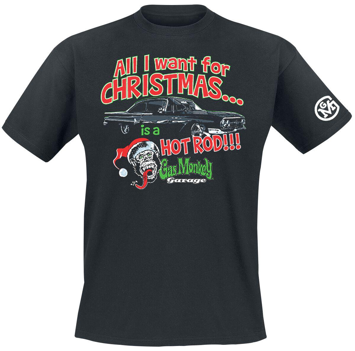 Merch dla Fanów - Koszulki - T-Shirt Gas Monkey Garage All I Want For Christmas T-Shirt czarny - 370836