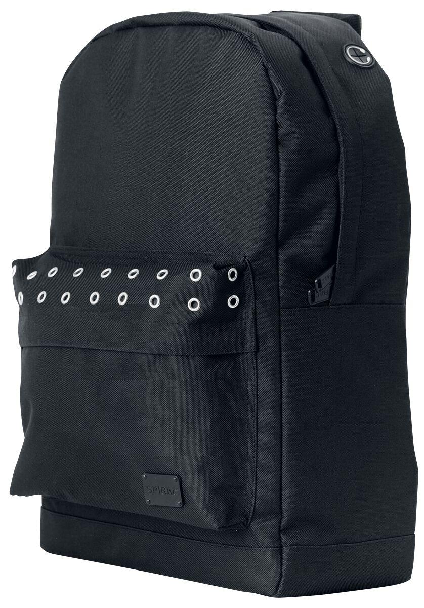 Marki - Torby i Plecaki - Plecak Spiral UK Black Eyelet Plecak czarny - 370919