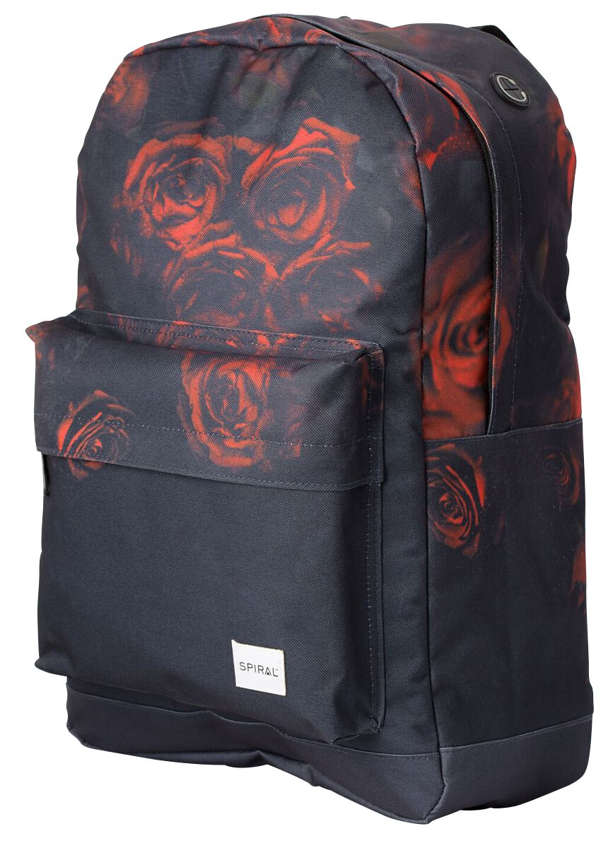 Marki - Torby i Plecaki - Plecak Spiral UK Faded Rose Plecak czarny - 370921