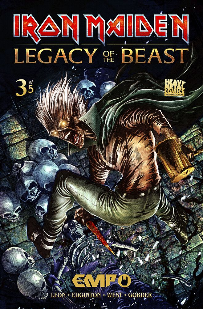 Image of   Iron Maiden Legacy of the Beast #3 Brochure multifarvet
