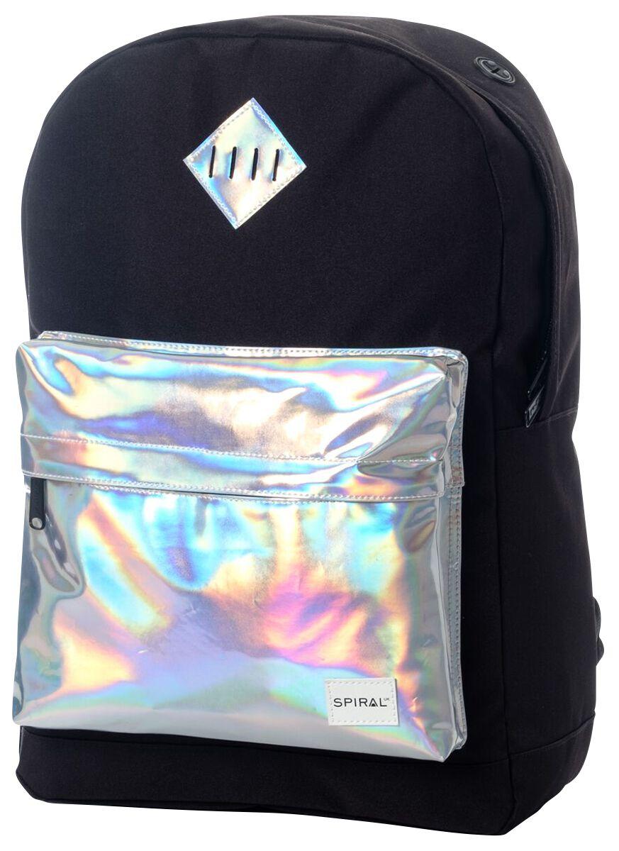 Marki - Torby i Plecaki - Plecak Spiral UK Silver Rave Pocket Plecak czarny - 370931