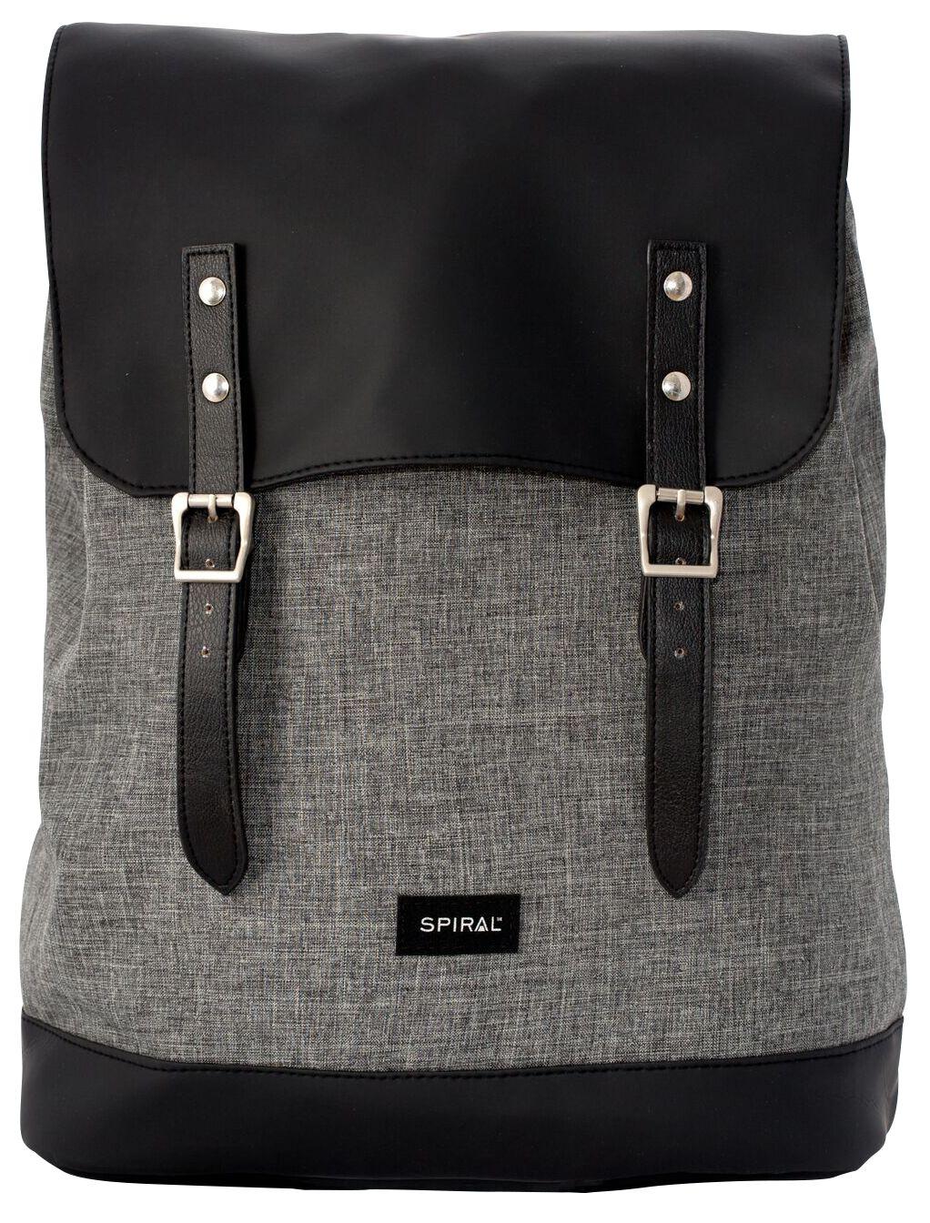 Marki - Torby i Plecaki - Plecak Spiral UK Crosshatch Charcoal Plecak czarny/grafit - 370953