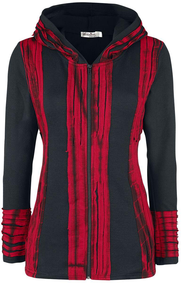 Marki - Bluzy z kapturem - Bluza z kapturem rozpinana Innocent Samila Hood Bluza z kapturem rozpinana czarny/czerwony - 370955