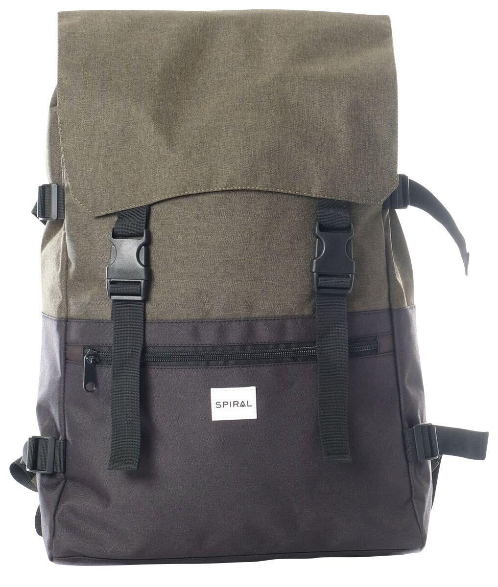 Marki - Torby i Plecaki - Plecak Spiral UK Olive-Black Plecak oliwkowy/czarny - 370957