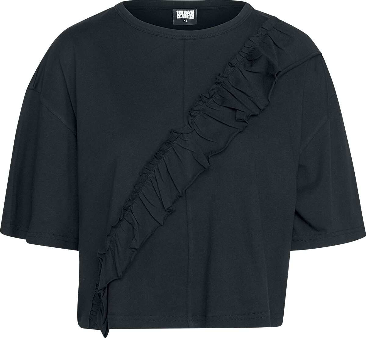 Urban Classics Ladies Short Oversize Volant Tee Koszulka damska czarny