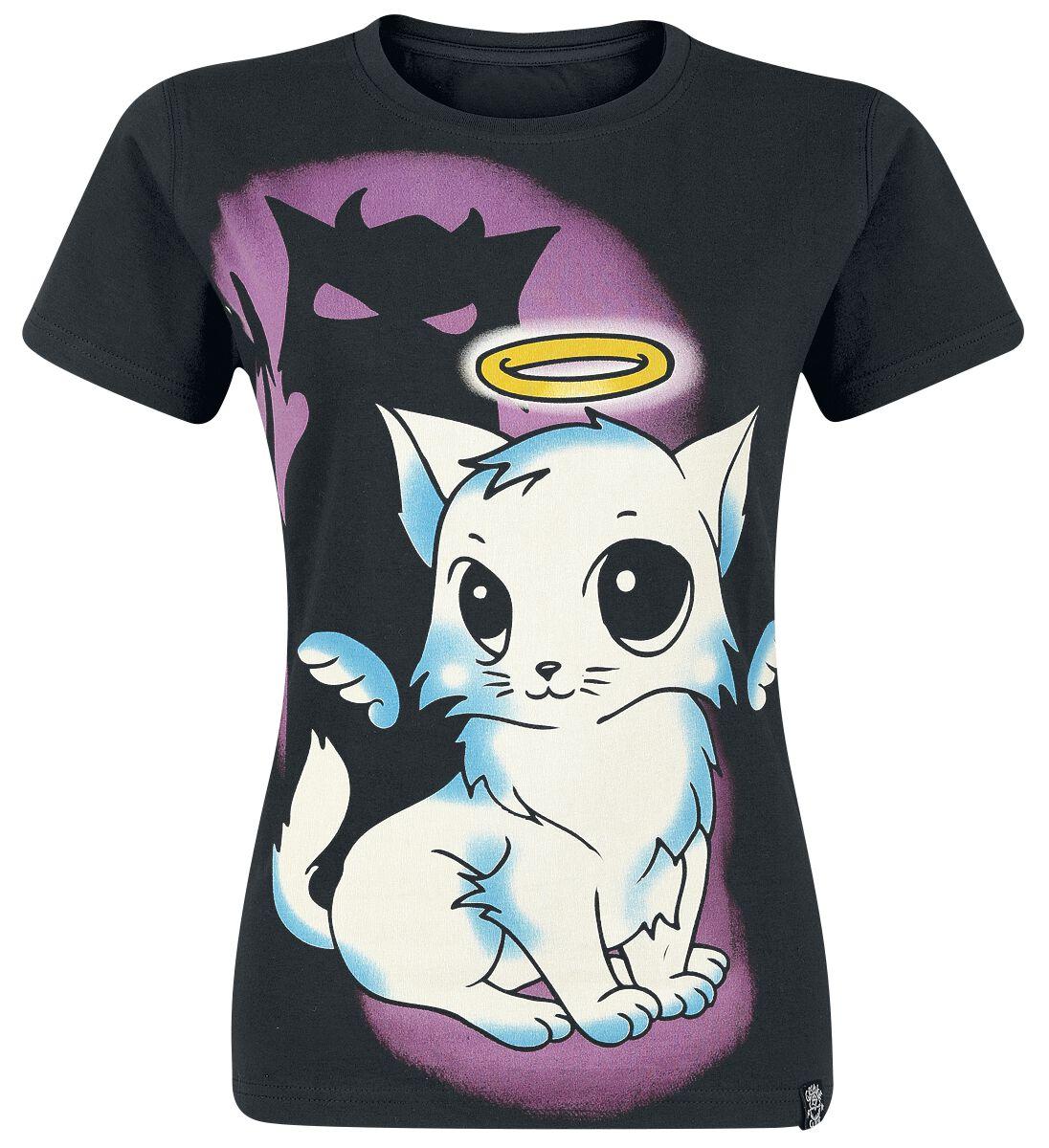 Marki - Koszulki - Koszulka damska Innocent Kitty Angel T Koszulka damska czarny - 370973