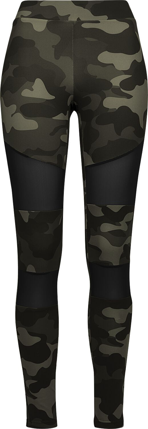 0a8c53c5 Urban Classics Ladies Camo Tech Mesh Leggings Leggings woodland-sort