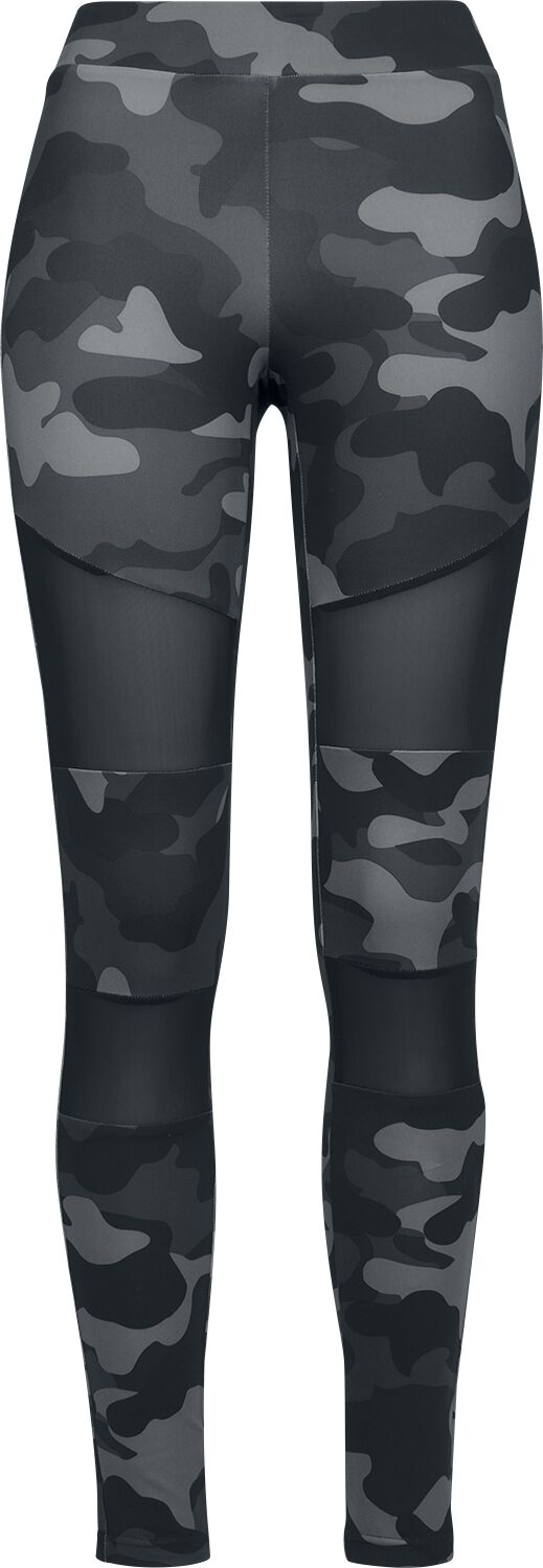 Hosen für Frauen - Urban Classics Ladies Camo Tech Mesh Leggings Leggings darkcamo schwarz  - Onlineshop EMP