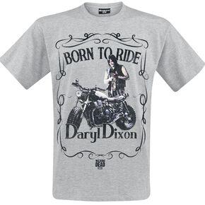 The Walking Dead Daryl Dixon - Born To Ride T-shirt gris clair chiné