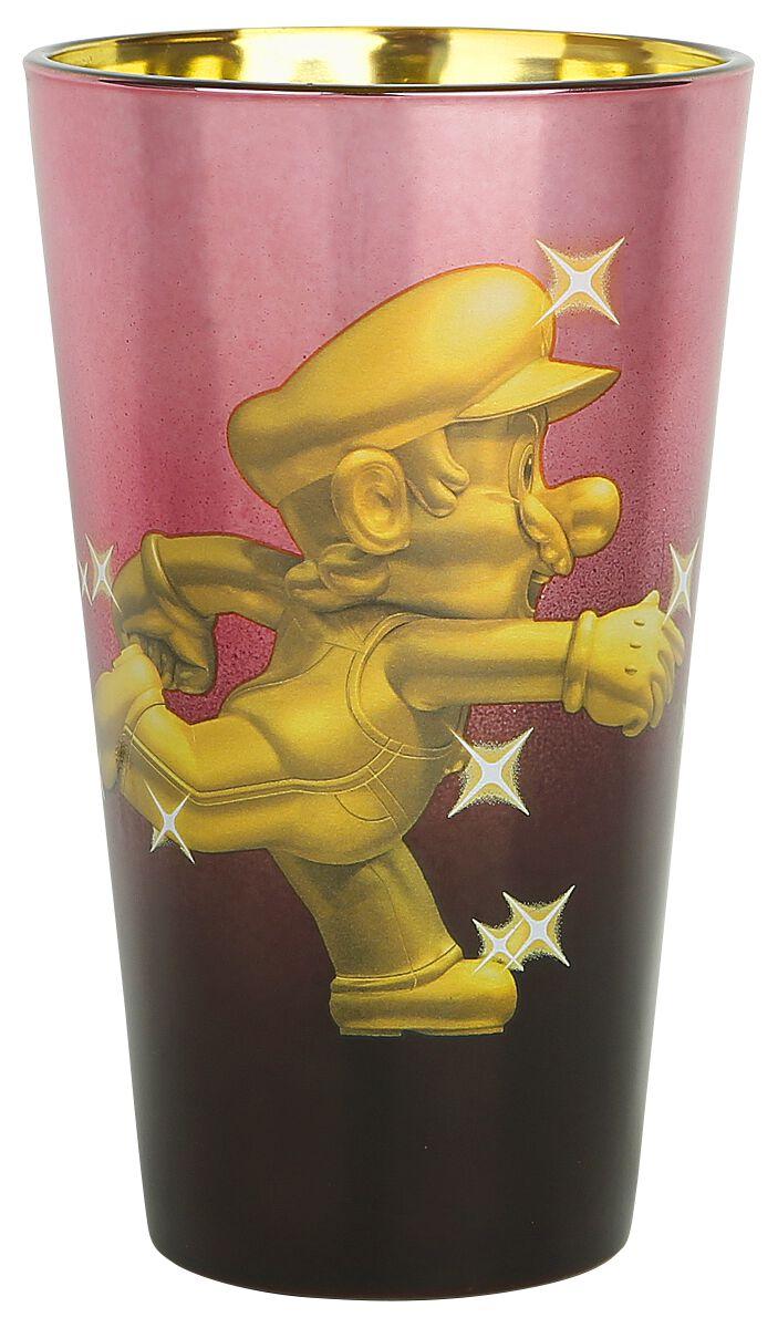 Image of   Super Mario Goldener Mario Ølglas multifarvet