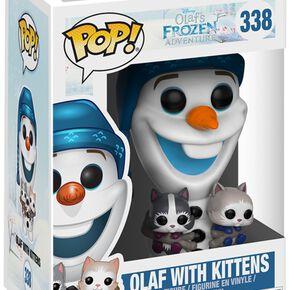 Figurine Pop! Olaf avec Chatons La Reine des Neiges Disney