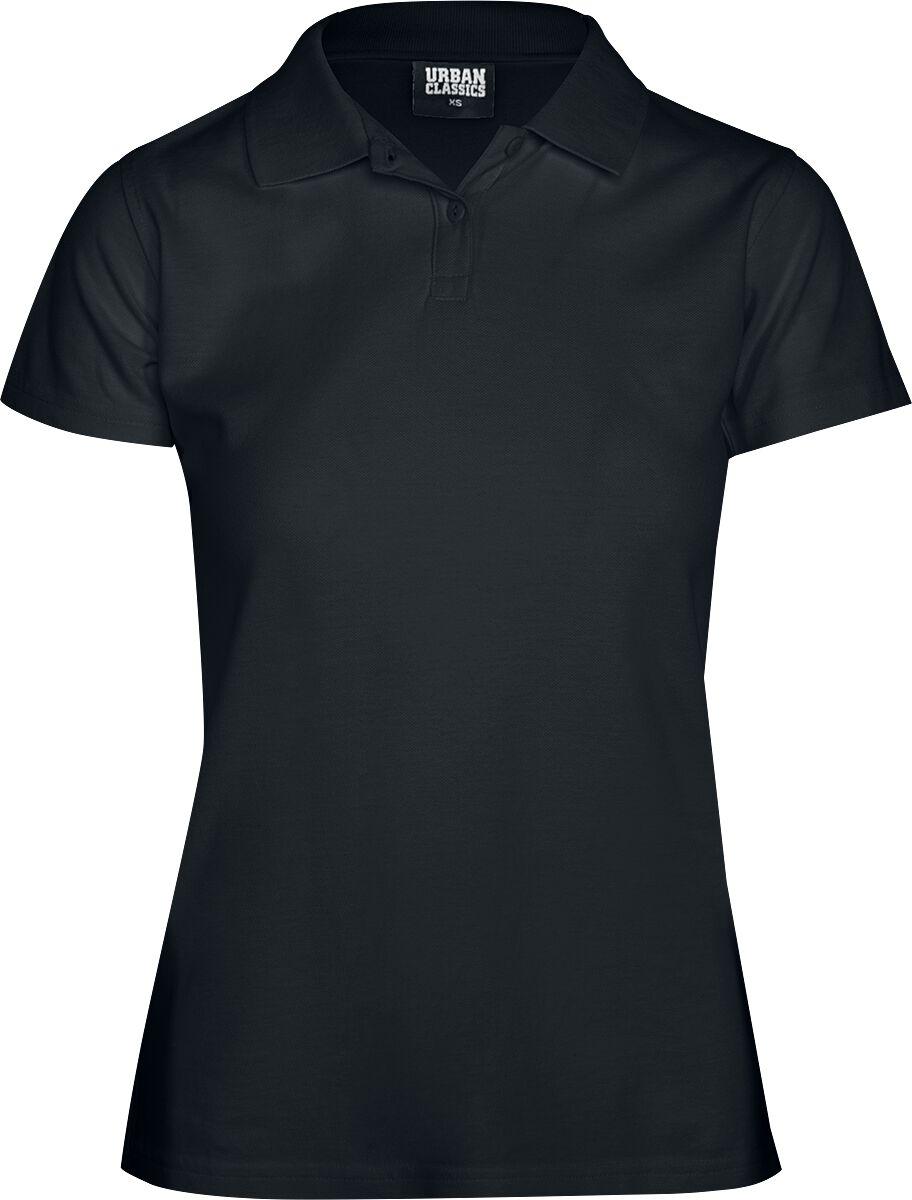 Urban Classics Ladies Wash Polo Tee Koszulka Polo damska czarny