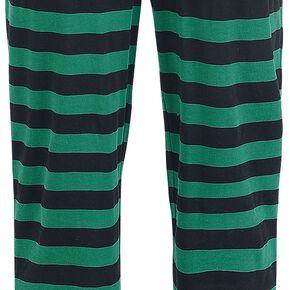 Harry Potter Rayures De Serpentard Bas de pyjama vert/noir