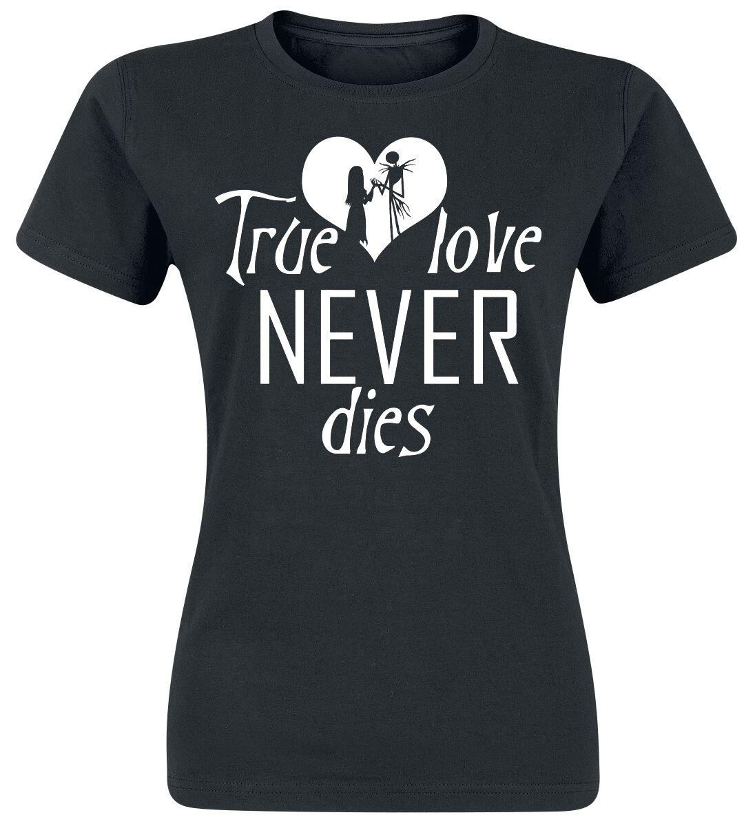 Image of   The Nightmare Before Christmas True Love Girlie trøje sort