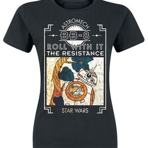 Star Wars Episode 8 - The Last Jedi - BB-8 T-shirt Femme noir