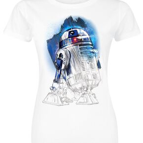 Star Wars Episode 8 - The Last Jedi - R2D2 T-shirt Femme blanc