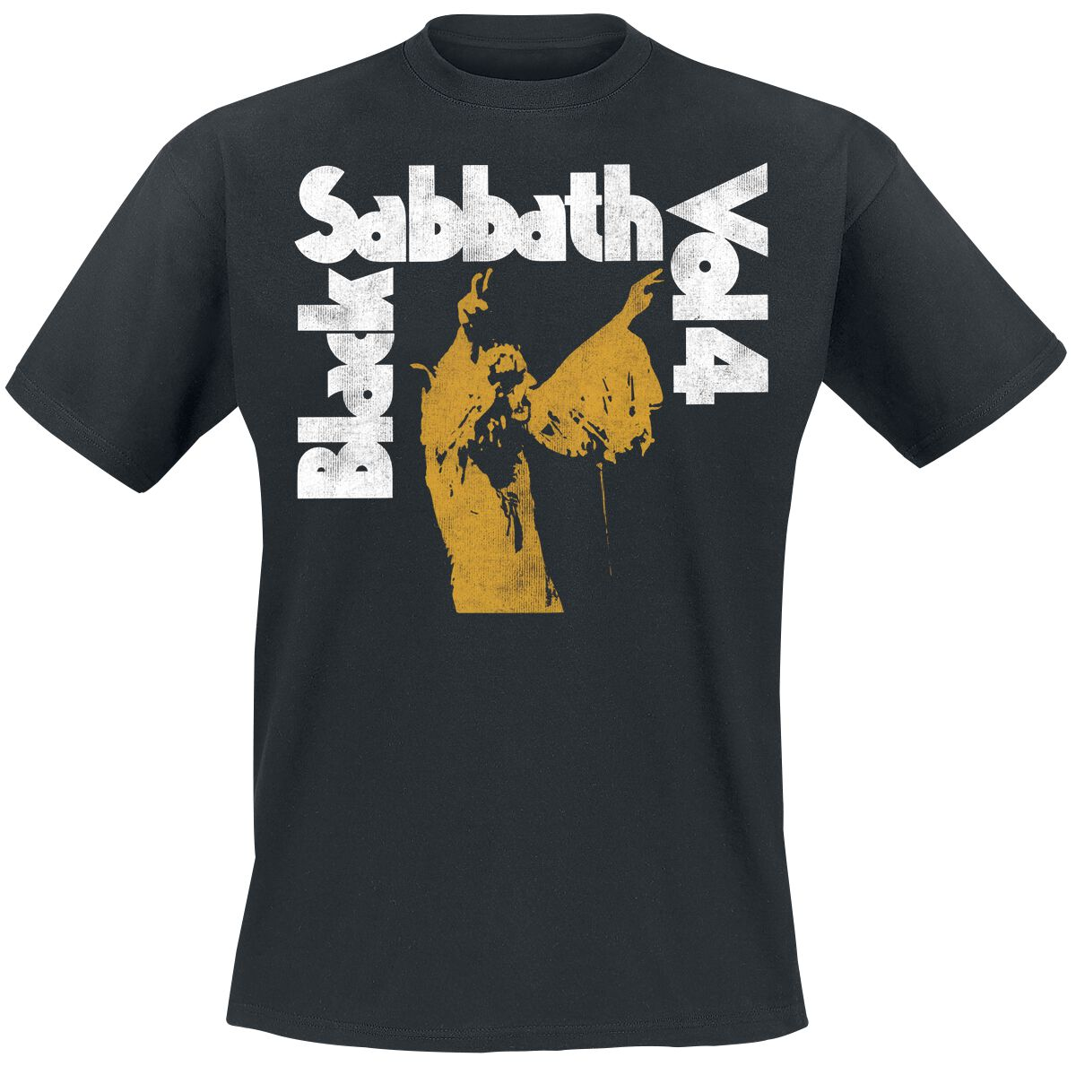 Image of   Black Sabbath Vol. 4 Tracklist T-Shirt sort