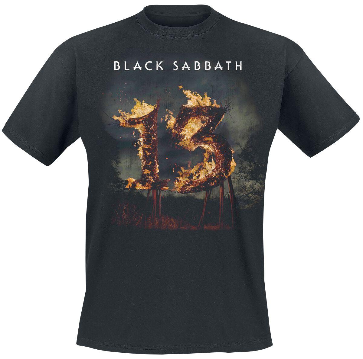 Image of   Black Sabbath 13 Tracklist T-Shirt sort