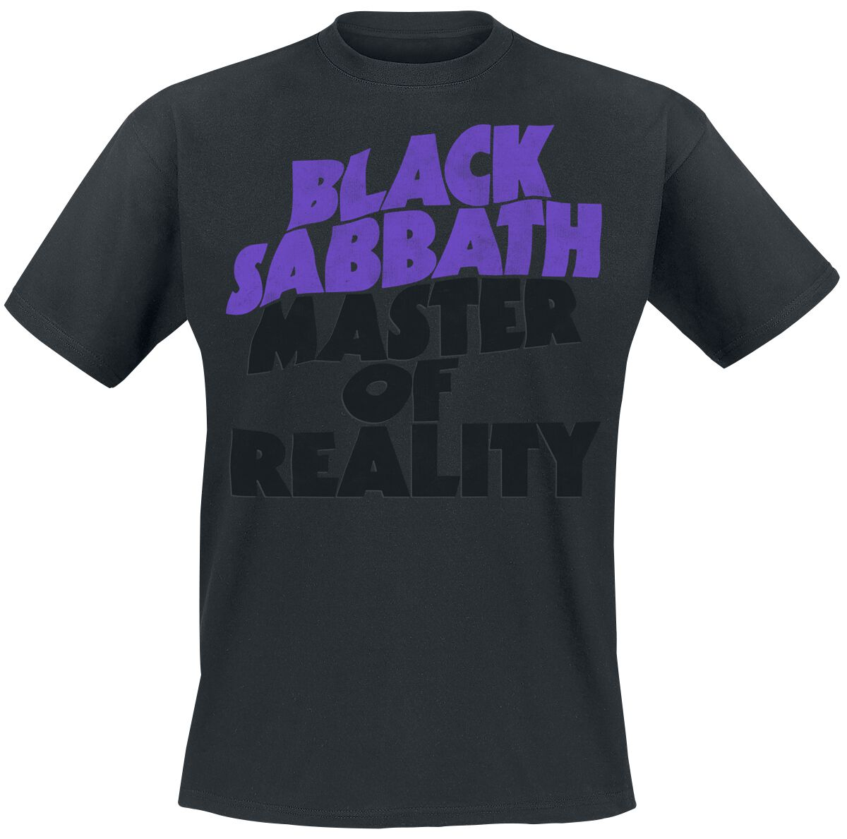 Image of   Black Sabbath Master Of Reality Tracklist T-Shirt sort