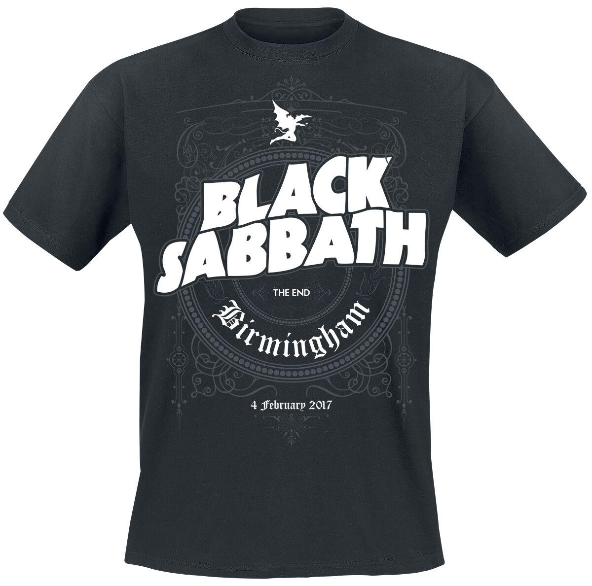 Image of   Black Sabbath The End Ornate Frame T-Shirt sort