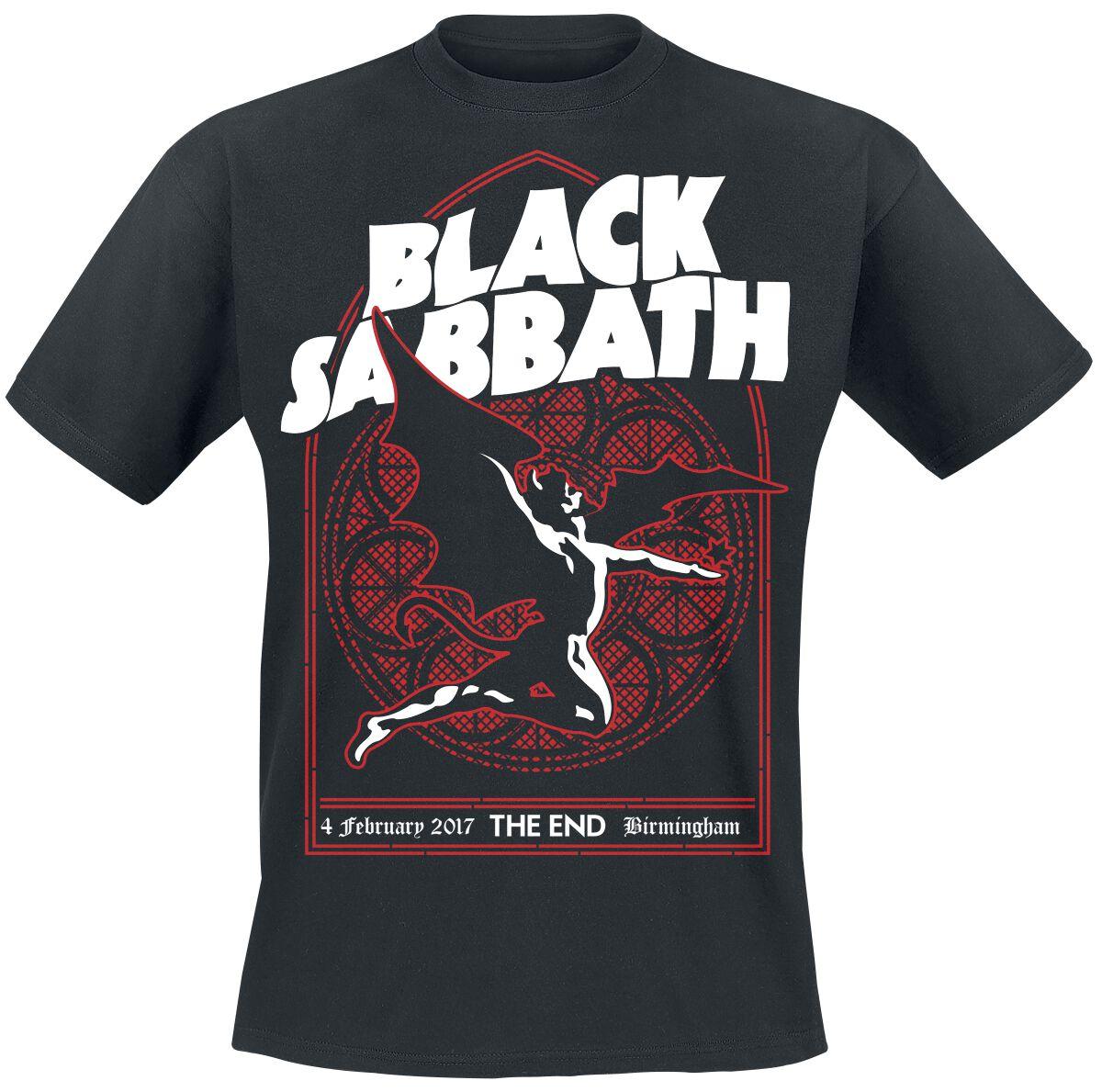 Image of   Black Sabbath The End Church Window T-Shirt sort
