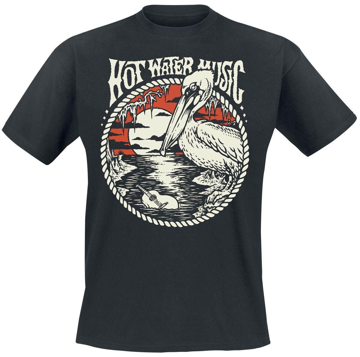Zespoły - Koszulki - T-Shirt Hot Water Music Pelican T-Shirt czarny - 371343