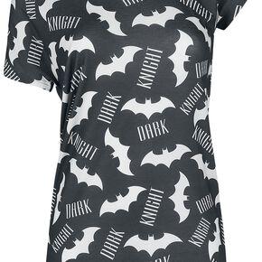 Batman Dark Knight T-shirt Femme noir