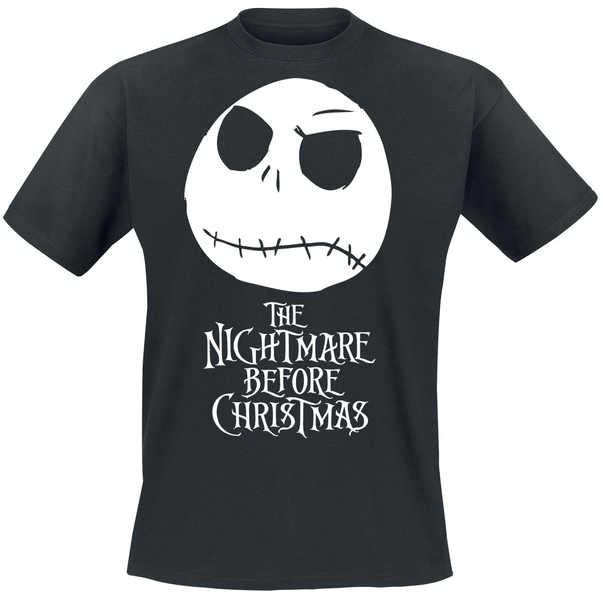 Image of   The Nightmare Before Christmas Jack Head T-Shirt sort