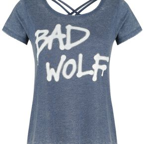Doctor Who Bad Wolf T-shirt Femme bleu chiné