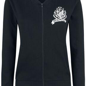 Harry Potter Hogwarts Logo Veste Femme noir