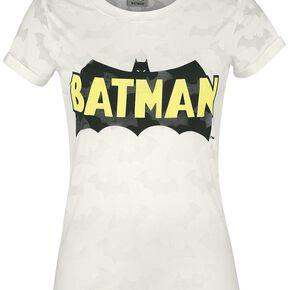 Batman Logo T-shirt Femme blanc cassé