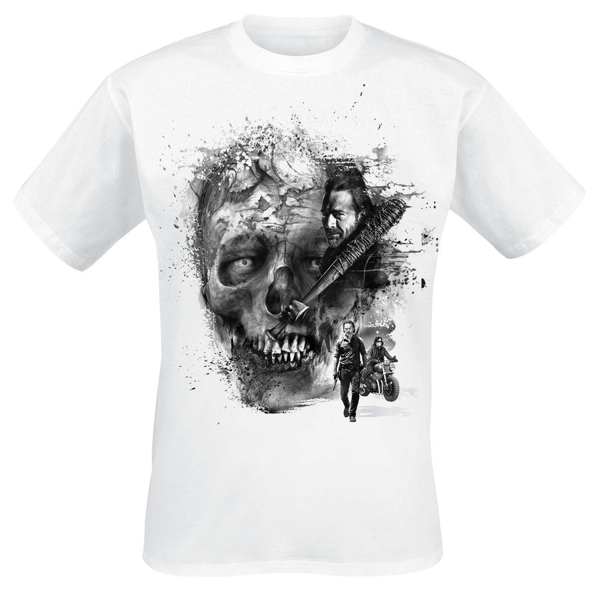 Image of   The Walking Dead Walker Face T-Shirt hvid