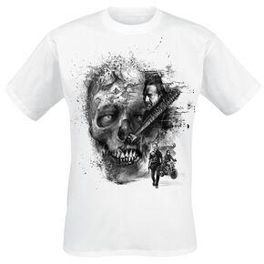 The Walking Dead Walker Face T-shirt blanc