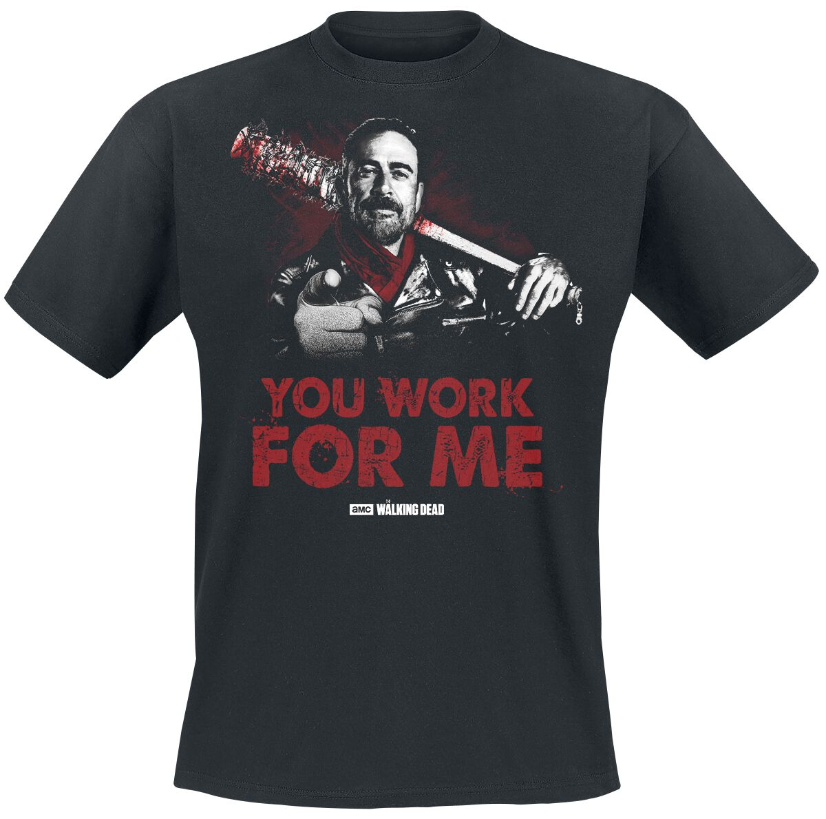 Image of   The Walking Dead Negan - You Work For Me T-Shirt sort