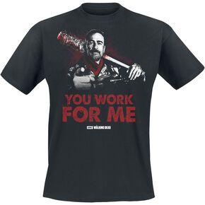 The Walking Dead Negan - You Work For Me T-shirt noir