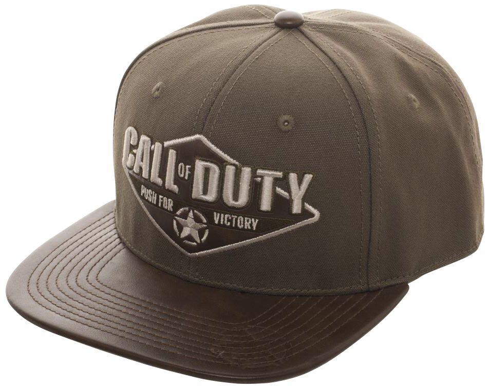 Merch dla Fanów - Czapki i Kapelusze - Czapka Snapback Call Of Duty WWII - Logo Czapka Snapback czarny - 371540