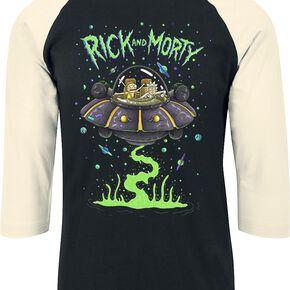 Rick & Morty Spaceship Manches longues noir/blanc cassé