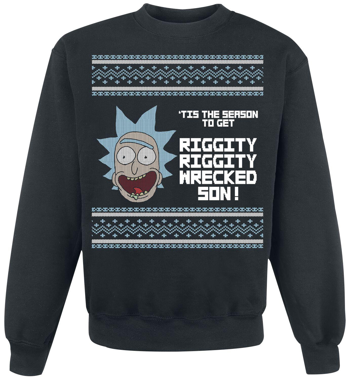 Image of   Rick And Morty Tis The Season Sweatshirt sort