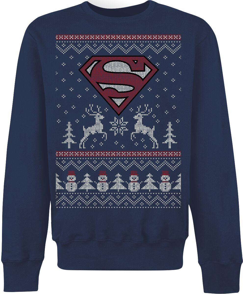Merch dla Fanów - Bluzy - Bluza Superman Logo Bluza niebieski - 371548
