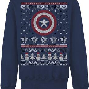 Captain America Fair Isle Sweat-shirt bleu