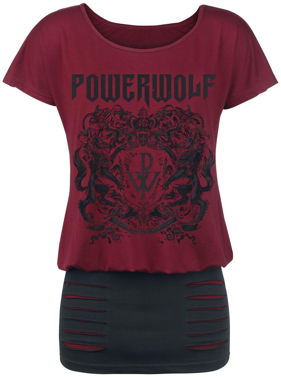 Image of   Powerwolf Crest - Metal Is Religion Kjole rød-sort