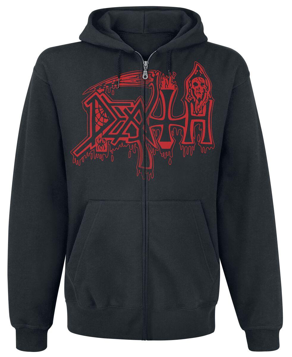 Zespoły - Bluzy z kapturem - Bluza z kapturem rozpinana Death Scream Bloody Gore Bluza z kapturem rozpinana czarny - 371637