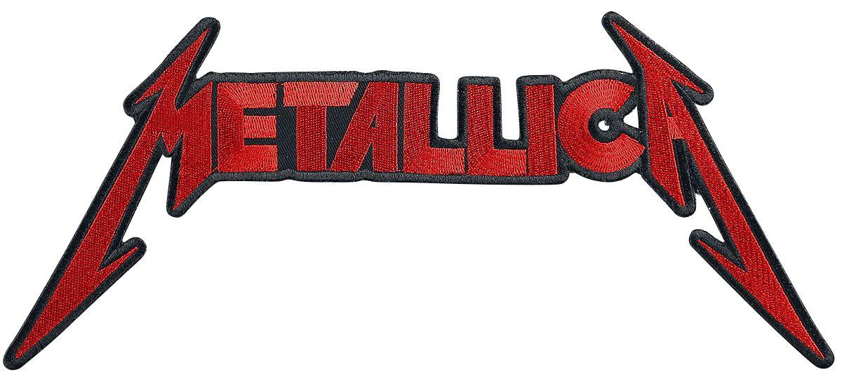 Image of   Metallica Logo - 30 Zentimeter Rygmærke rød