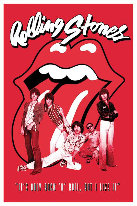 Image of   The Rolling Stones It's only Rock 'n' Roll Plakat standard