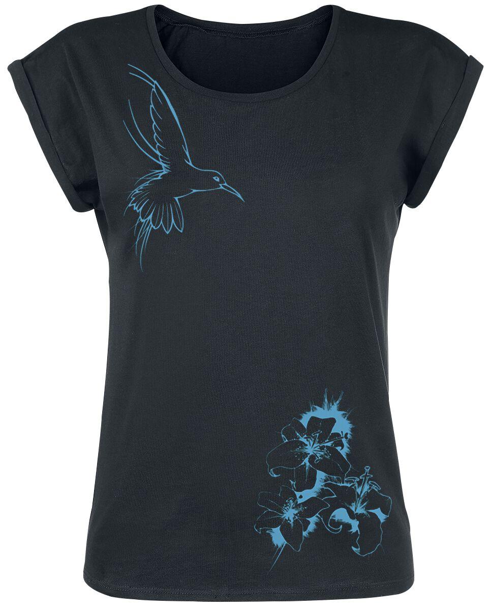 Motyw - Koszulki - Koszulka damska Flying Colibri Koszulka damska czarny - 371673